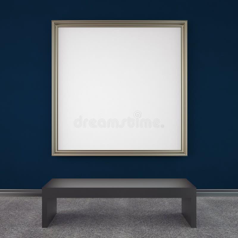 Blaue Galerie lizenzfreie abbildung
