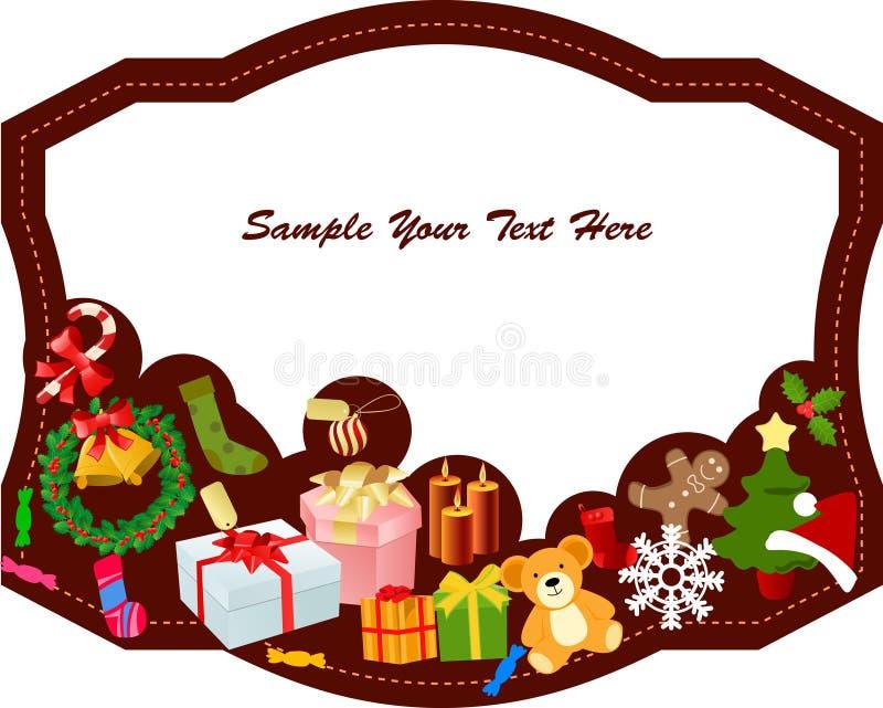 Feld der frohen Weihnachten stock abbildung