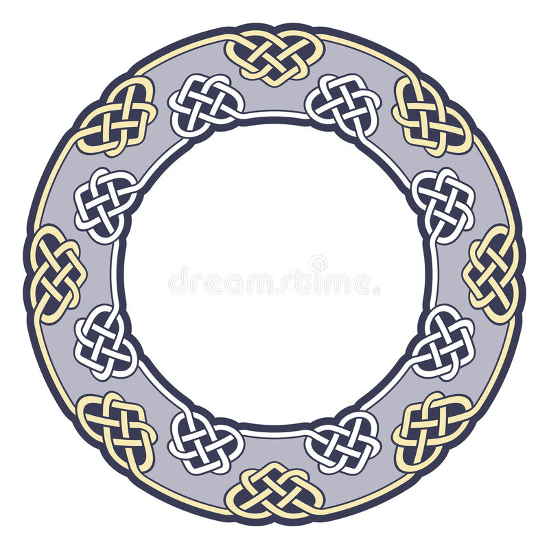 Feld in der keltischen Art vektor abbildung