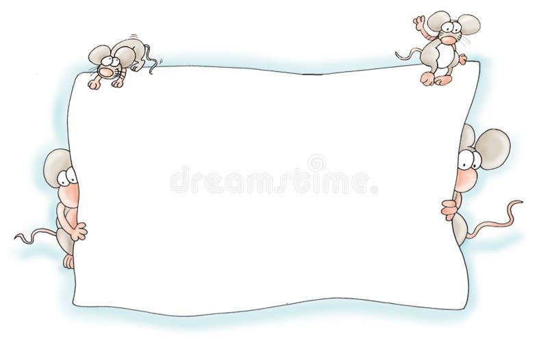 Feld der Maus stock abbildung