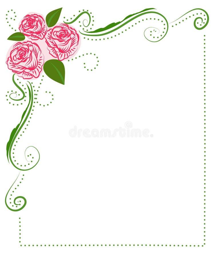Feld der Rosen lizenzfreie abbildung