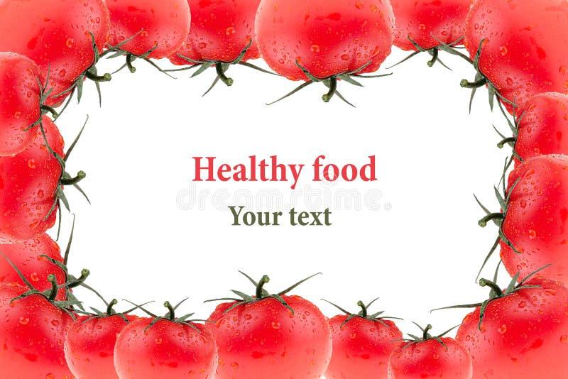 Feld der Tomate auf einem weißen Hintergrund Gruppe frische Tomaten Makro Beschaffenheit Getrennt Tomatenmuster lizenzfreie stockbilder