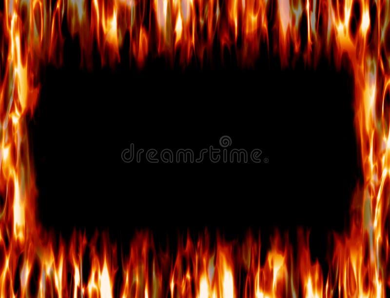 Feld des Feuers und der Flamme stock abbildung