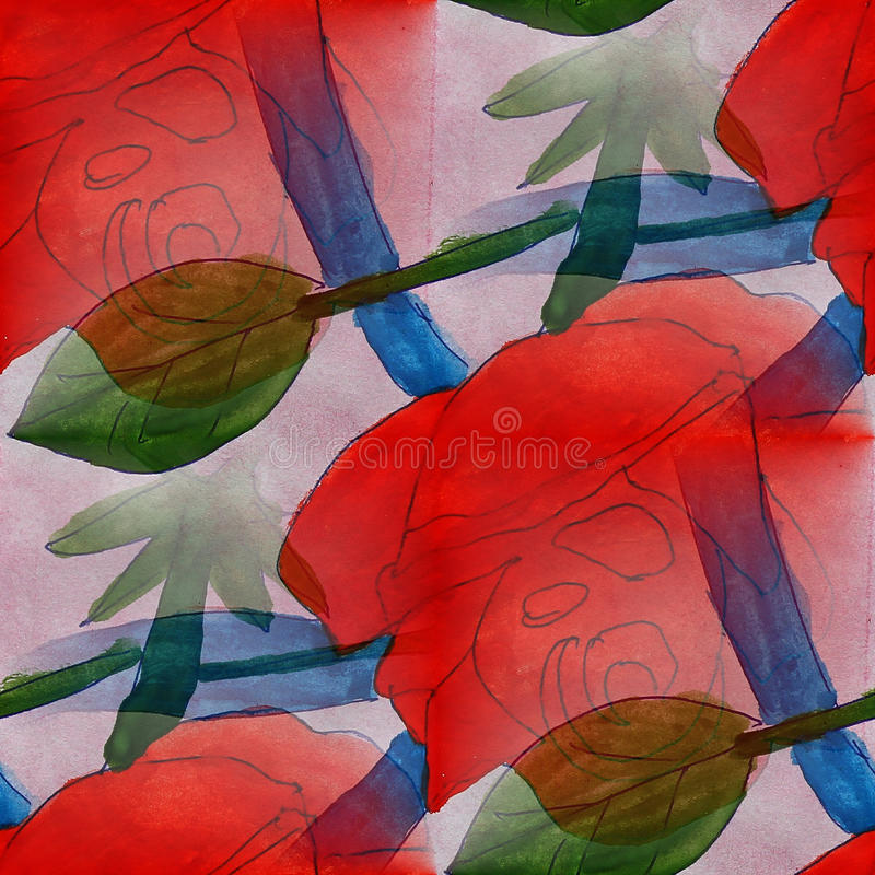 Feld die Bildpalette, die rot ist, grün, dunkelblau lizenzfreie abbildung