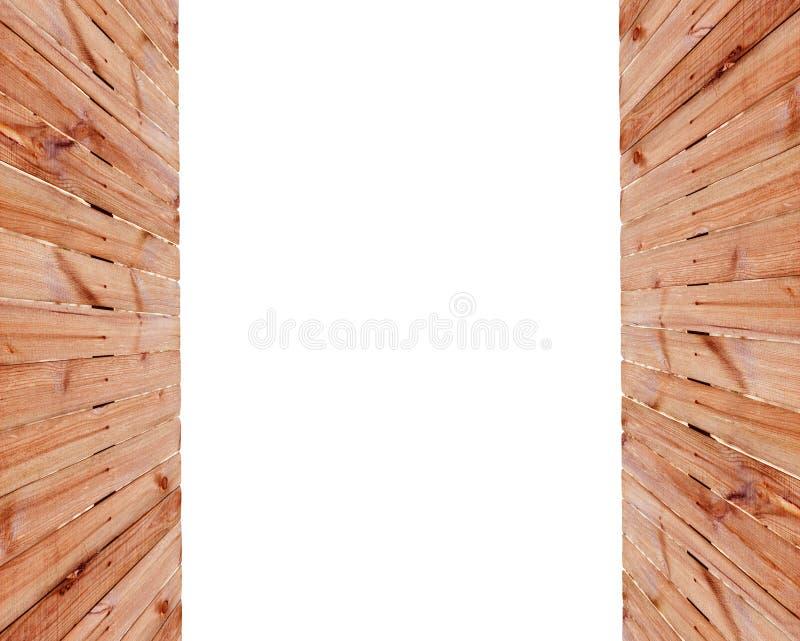 Feld eines Bretterzauns auf den Seiten mit Raum für Text stockfoto