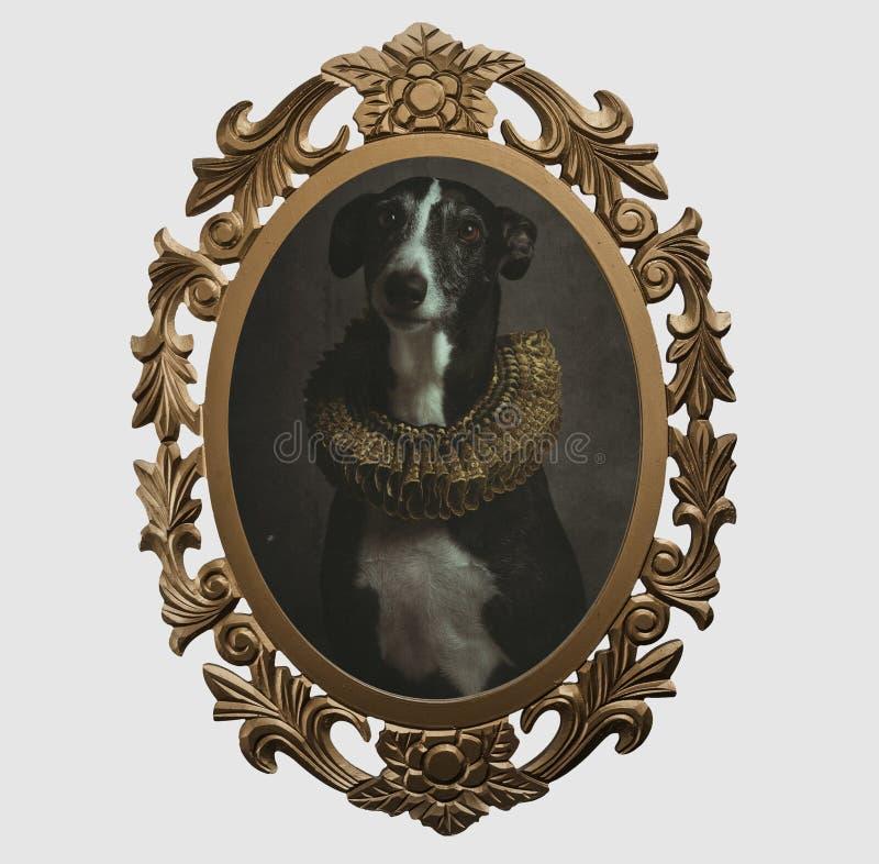 Feld eines Hundes im Renaissancestil stock abbildung