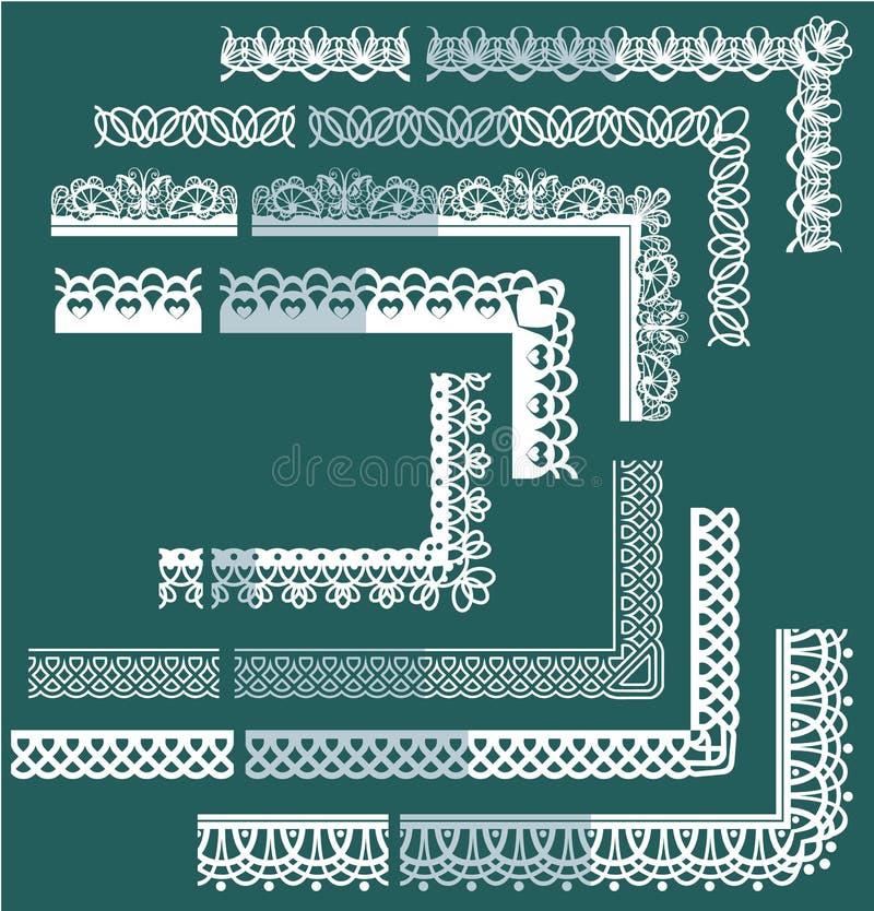 Feld Element-Satz - unterschiedliche Spitze Ränder und bord lizenzfreie abbildung