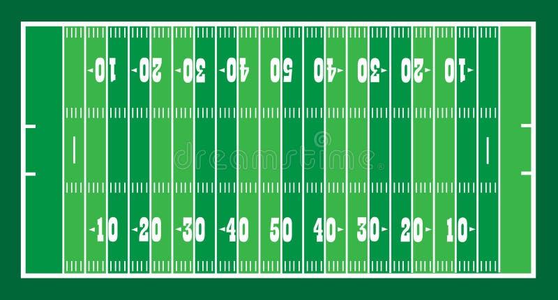 Feld Für Amerikanisches Footbal Stockbild