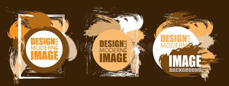 Feld für Text und Aufkleber Hintergrund, Element für Design busine stock abbildung
