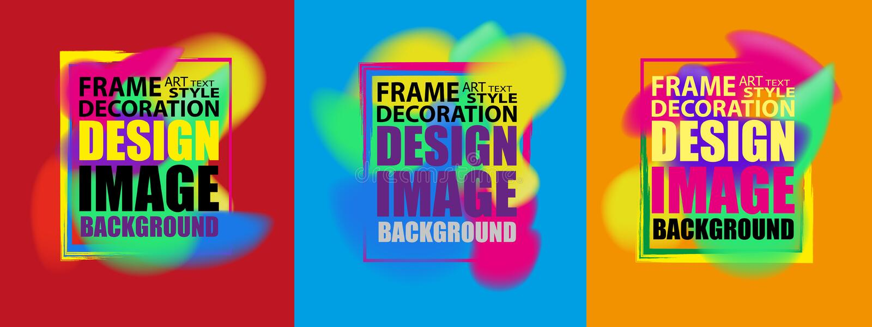 Feld für Textmoderne kunst Dynamische abstrakte Hintergrundflüssigkeitsform-Plakatabdeckungen stellten mit Hippie und Memphis-Far vektor abbildung