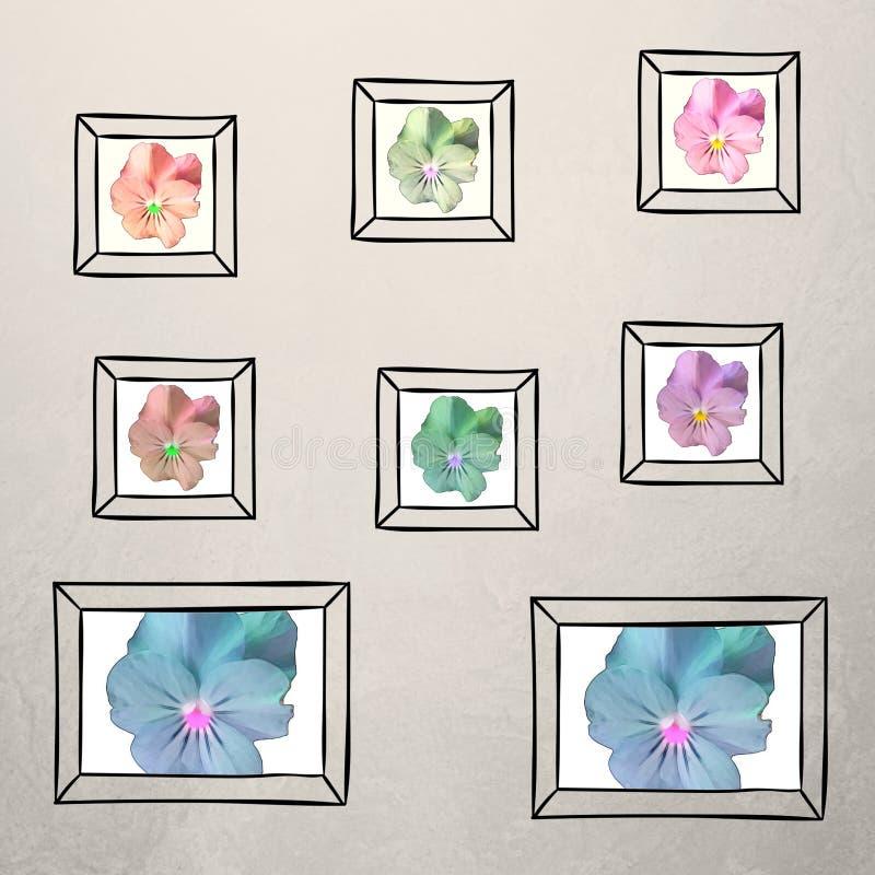 Feld Fotocollage - Blume lizenzfreie abbildung