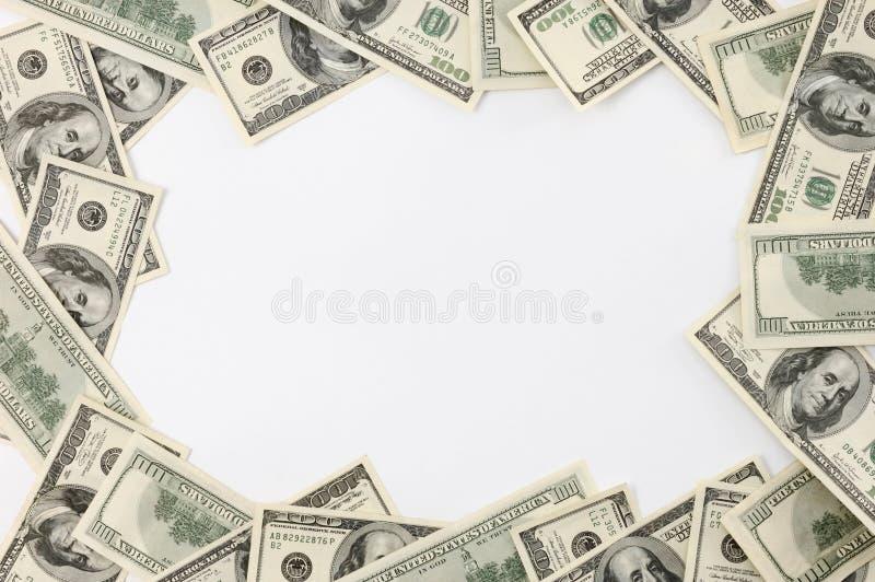 Feld gebildet von den Dollarscheinen stockfoto