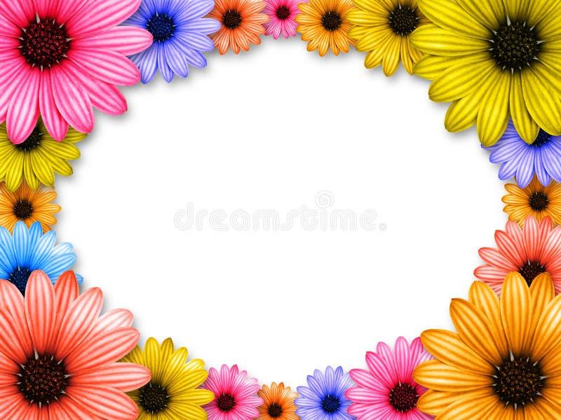 Feld gebildet von farbigen Blumen vektor abbildung