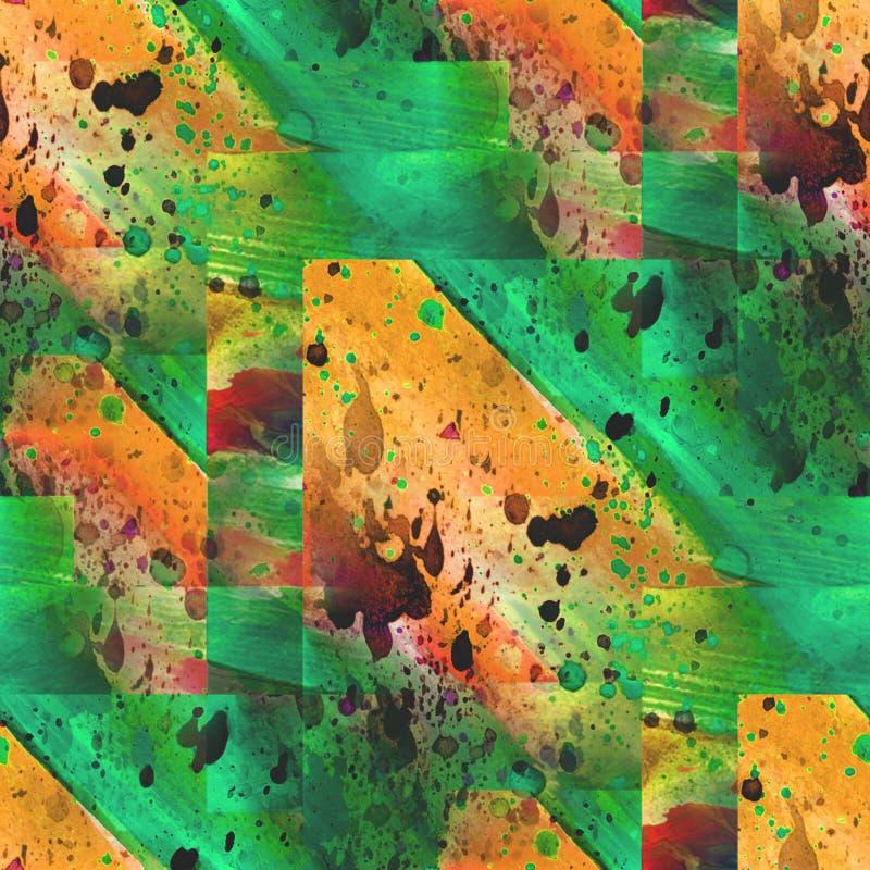 Feld grafisches Artbraun, die grüne nahtlose Palette lizenzfreie abbildung