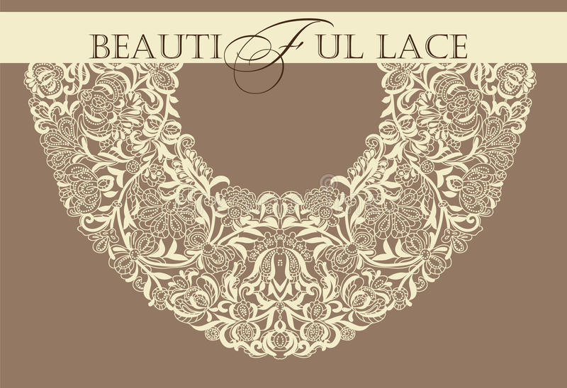 Feld lace-like stock abbildung