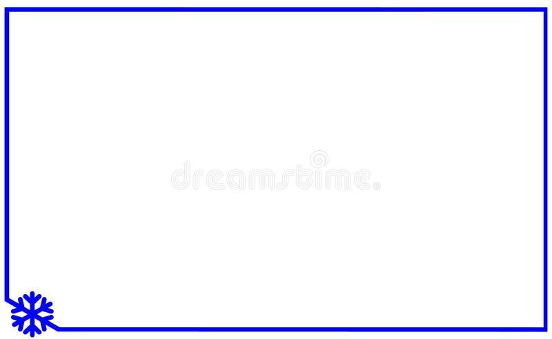 Feld linear mit Winkelelementschneeflockenvektor Der Schneeflockenschattenbildschablonen-Ikone des Aufklebers einfache gerundete  lizenzfreie abbildung