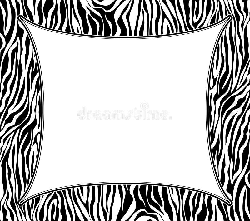 Feld mit abstrakter Zebrahautbeschaffenheit vektor abbildung