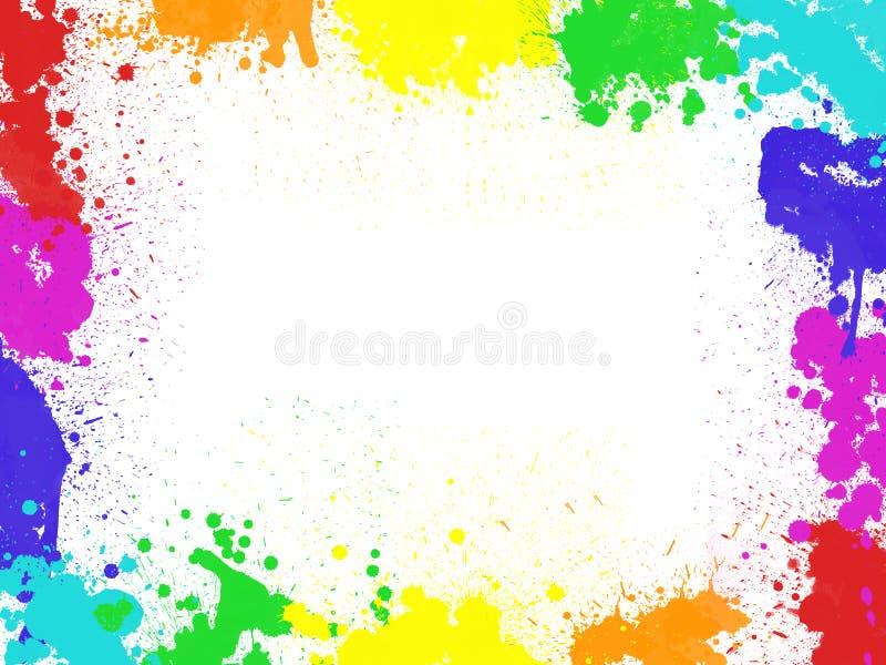 Feld mit Farbklecksen und -flecken vektor abbildung