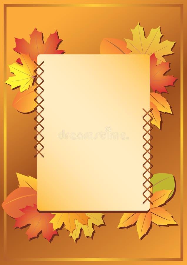 Feld mit Herbstblättern vektor abbildung