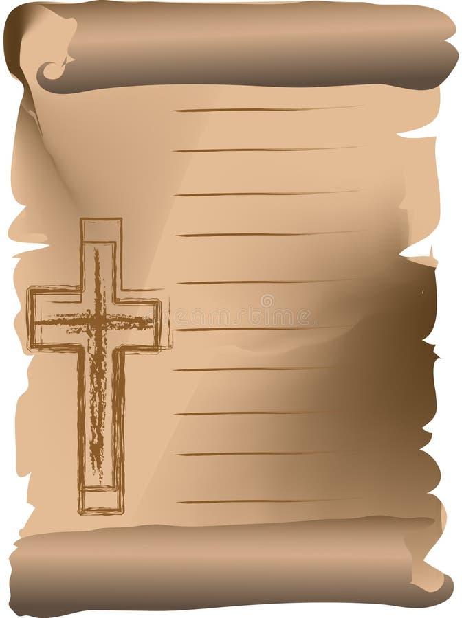 Feld mit Kreuz stock abbildung