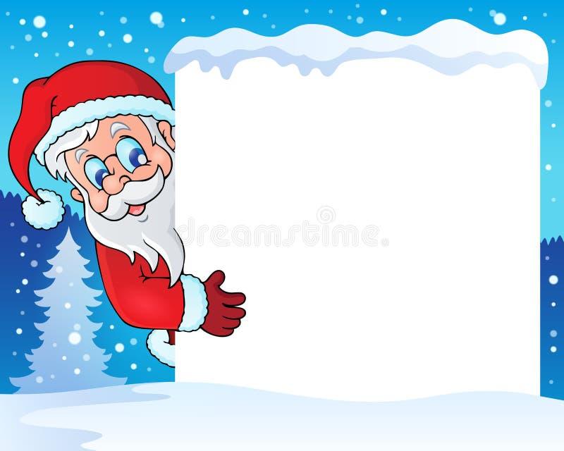 Feld mit Santa Claus-Thema 4 stock abbildung