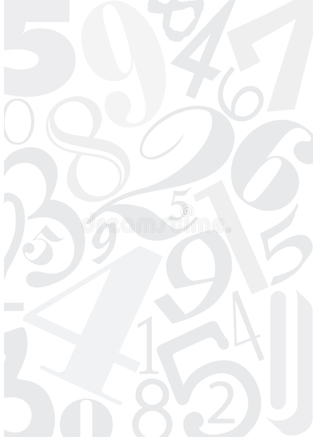 Feld mit Zahlen vektor abbildung
