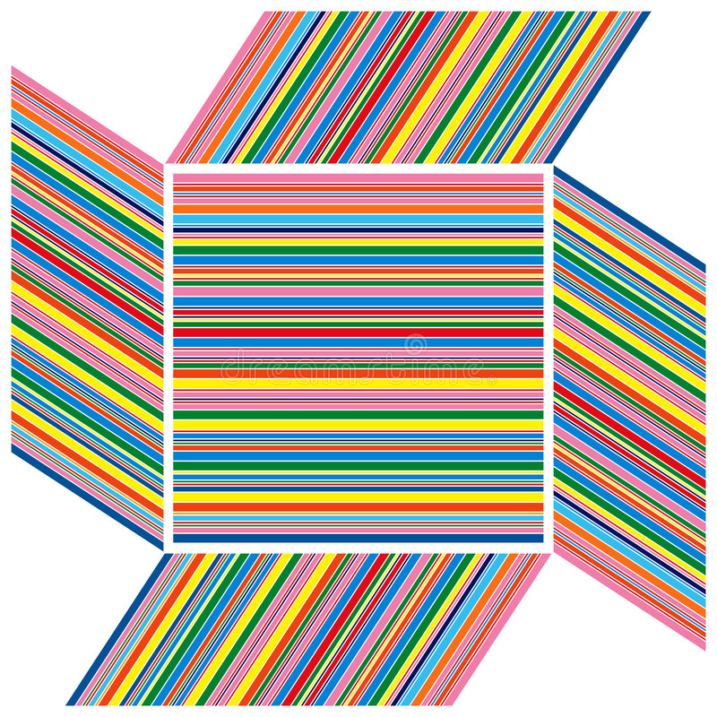 Feld Streifen der Farbe lizenzfreie abbildung
