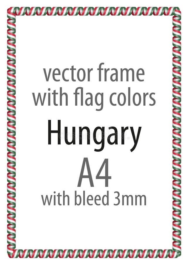 Feld und Grenze des Bandes mit den Farben der Ungarn-Flagge lizenzfreie abbildung