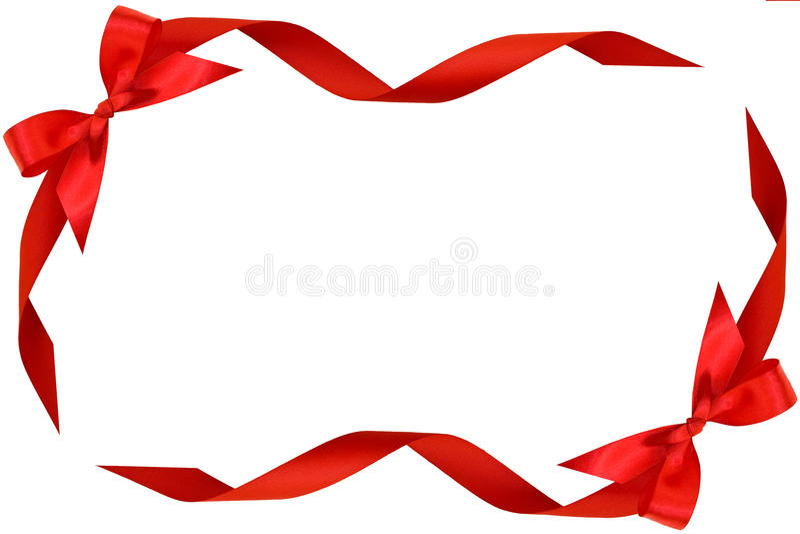 Feld vom roten Bogen und von den Farbbändern stockbild