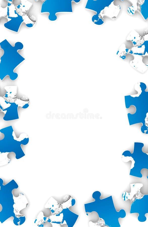 Feld von den Puzzlespielen lizenzfreie abbildung