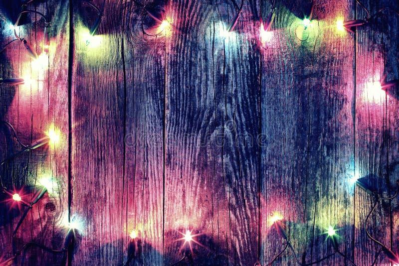 Feld von Weihnachtslichtern stockfoto