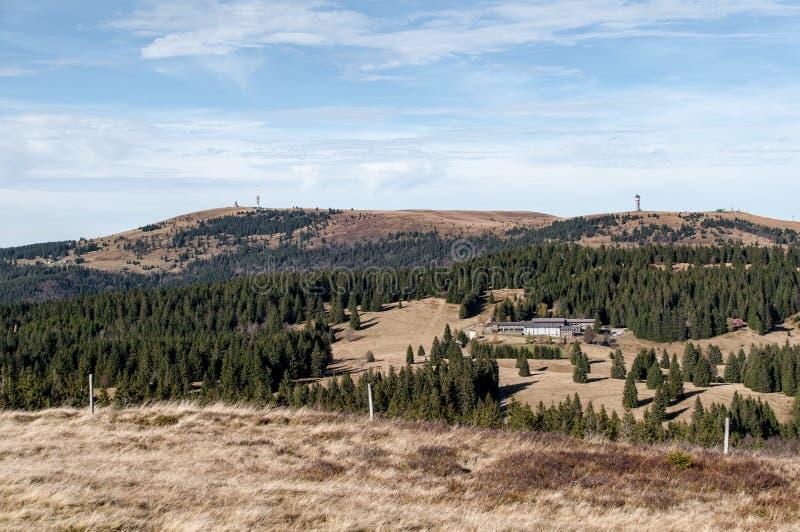 Feldberg in Black Forest in autumn stock photos