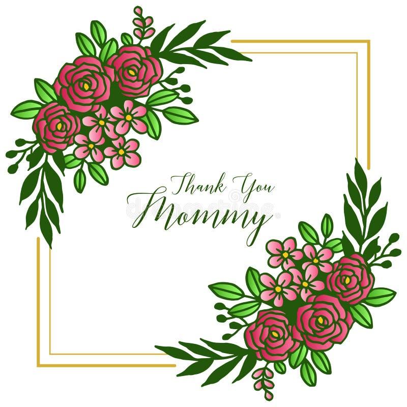 Feldblume stieg Blüte, für das Beschriften, Sie zu danken Mama Vektor vektor abbildung