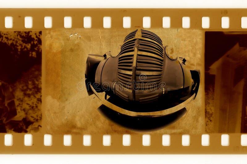 Feldfoto der Oldien 35mm mit altem Auto vektor abbildung