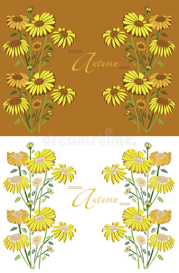 Feldherbstsonnenblumen vektor abbildung
