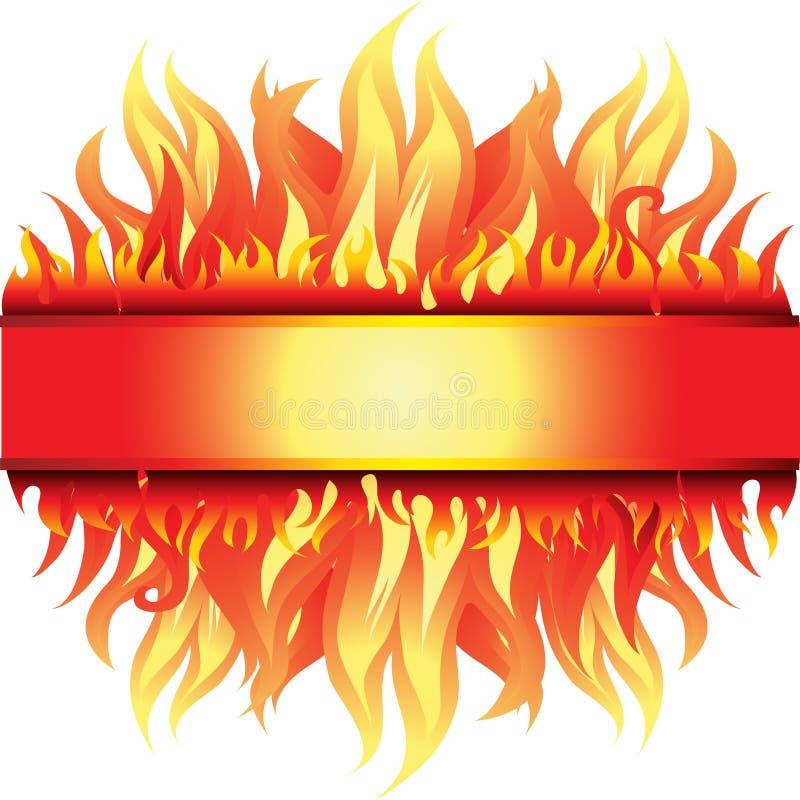 Feldhintergrund mit Feuer lizenzfreie abbildung