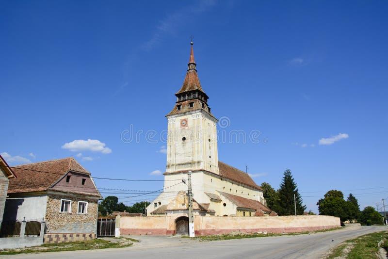 Feldioara a enrichi l'église, la Transylvanie, Roumanie photographie stock libre de droits