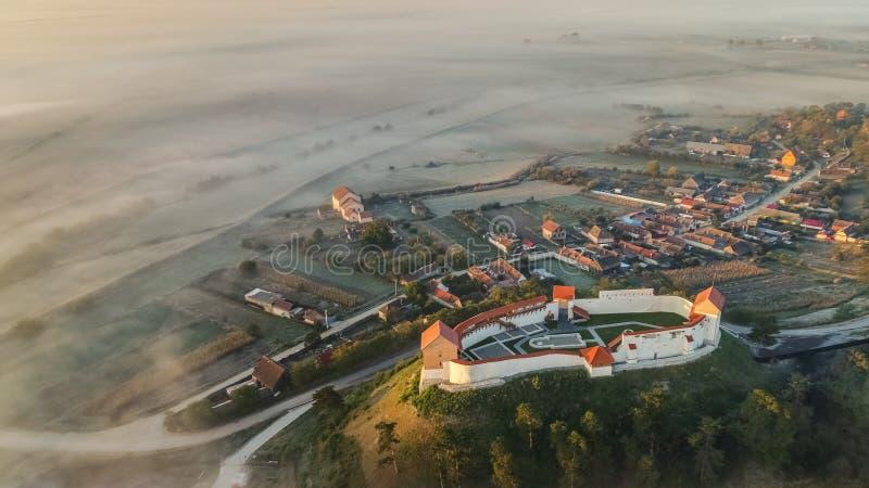 Feldioara forteca do centrum miasta brasov stary Romania fotografia stock