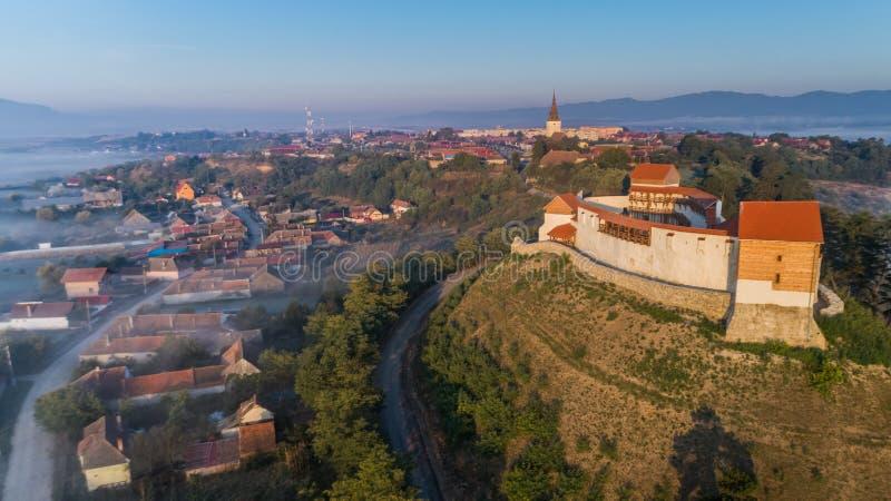 Feldioara Fortress. Brasov, Romania royalty free stock photography