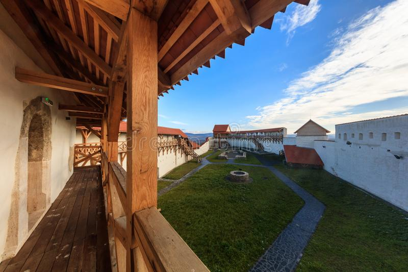Feldioara Fortress. Brasov, Romania stock photos