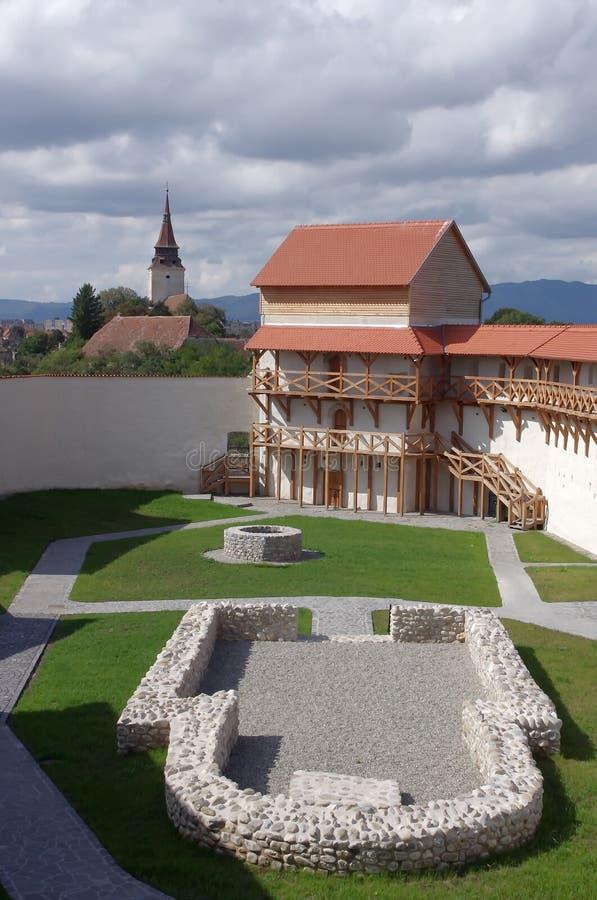 Feldioara of Marienburg-vesting stock foto's