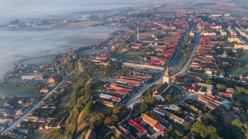 Feldioara village. Transylvania, Romania royalty free stock image