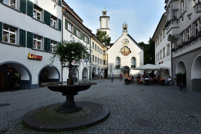 Feldkirch Voralberg, Österrike arkivbild