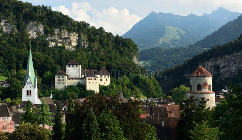 Feldkirch, Voralberg, Oostenrijk royalty-vrije stock afbeelding