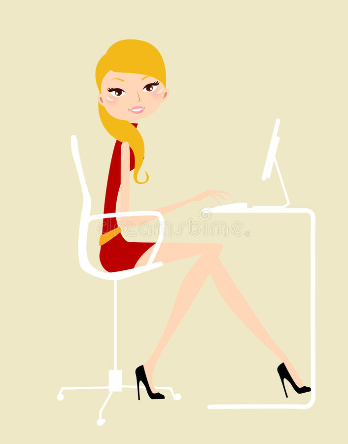 Download FElegant Lady Working Royalty Free Stock Images - Image: 27844569