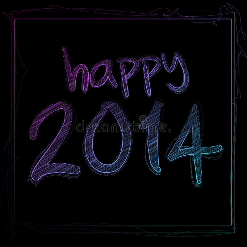 2014 felice royalty illustrazione gratis