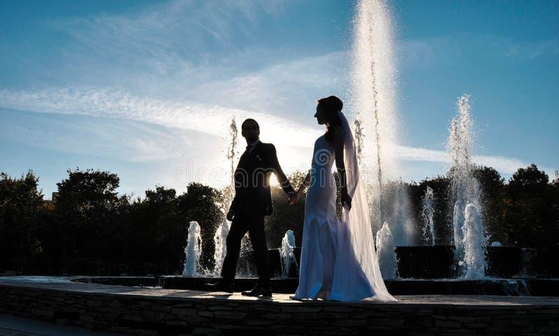 Felice, anelli, nozze, amore, giorno delle nozze, 2019 fotografia stock