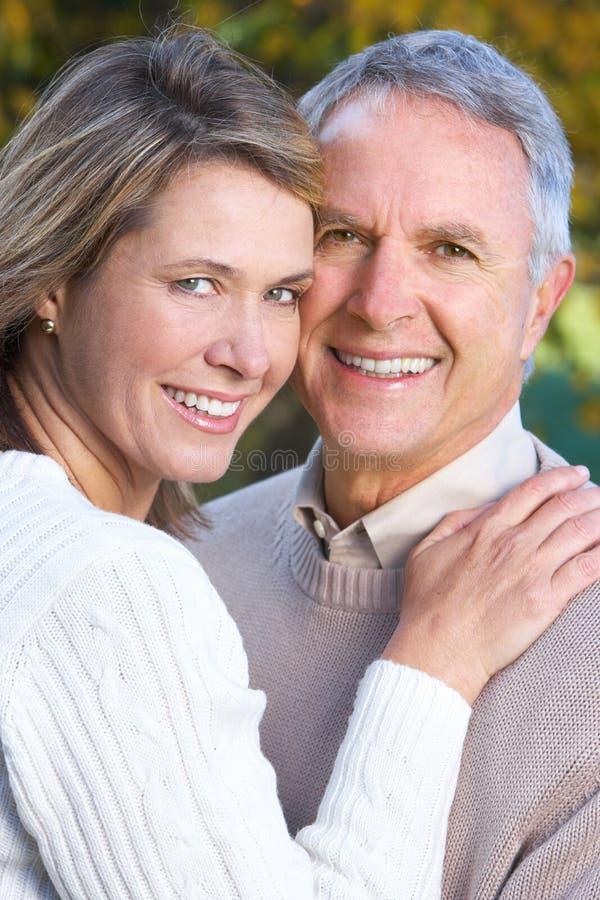 felice anziano delle coppie immagini stock