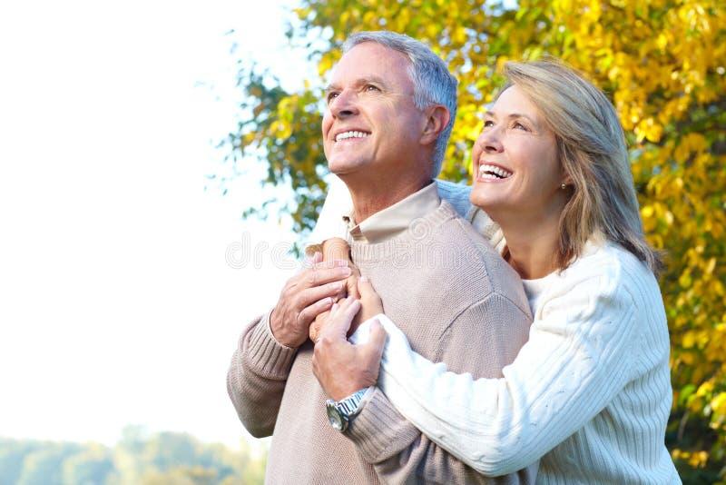 felice anziano delle coppie fotografia stock