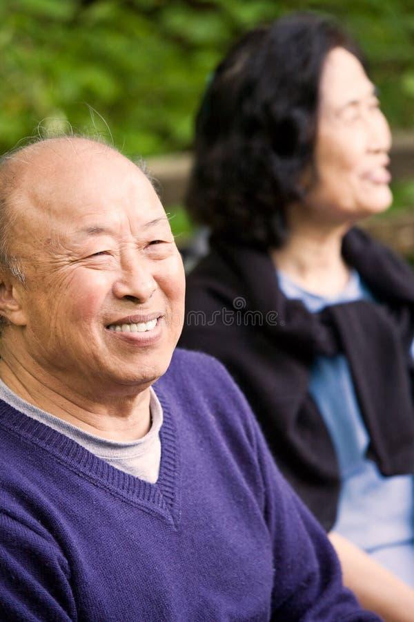 felice anziano delle coppie fotografia stock libera da diritti